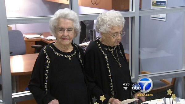 Twin sisters celebrate 100th birthday