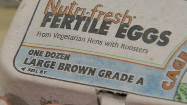 Vegetarian-fed eggs means that the hens are fed a diet that is free of animal products, which is something chickens prefer.