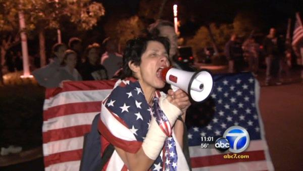 OC protesters rally at Islamic fundraiser
