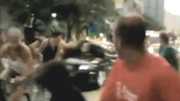 Car plows into crowd of bicyclists in Brazil