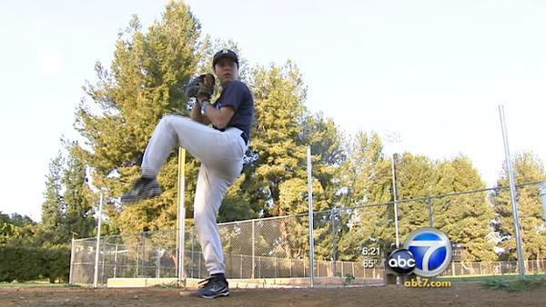 Girl pitchers duel in school baseball first