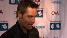 Stars Nathan Fillion, Jason Biggs, and Josh Holloway share their favorite childhood stories at the Annual Milk and Bookies charity benefit. - Provided courtesy of KABC