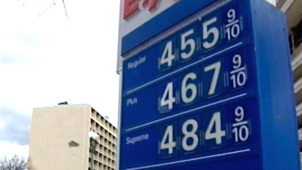 Near record high gas prices emptying pockets