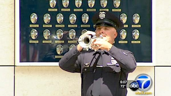 LAPD honors officers killed in uniform