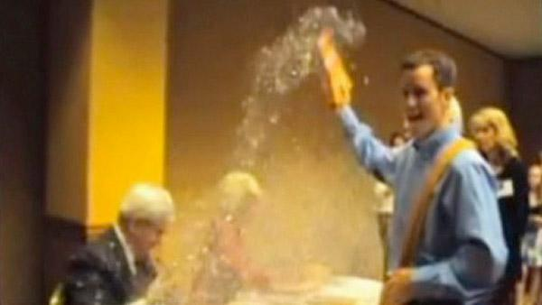 newt gingrich man of the year. Man dumps glitter all over