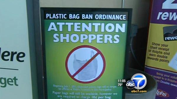 Plastic-bag ban begins in uninc. LA County