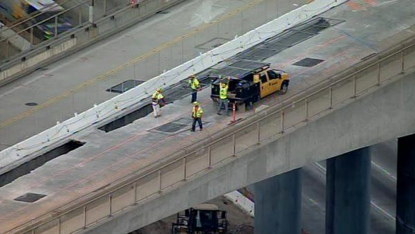 The reason for the 53-hour closure is to take apart the north side of the Mulholland Bridge.