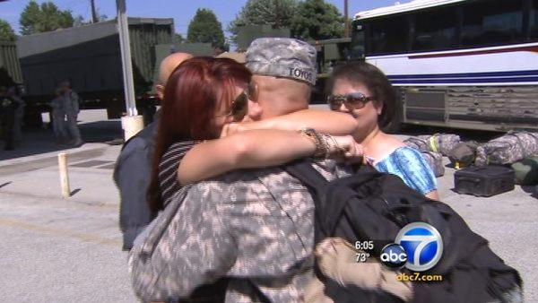 Dozens of Army reservists return to SoCal