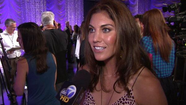 Hope Solo talks about being part of the cast of 'Dancing With The Stars' season 13 on Monday, Aug. 29, 2011.