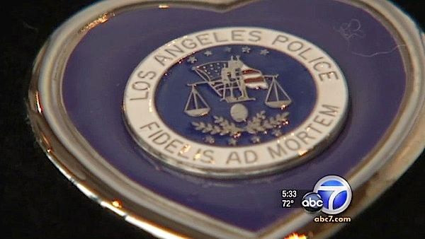 LAPD honors fallen officers with purple hearts