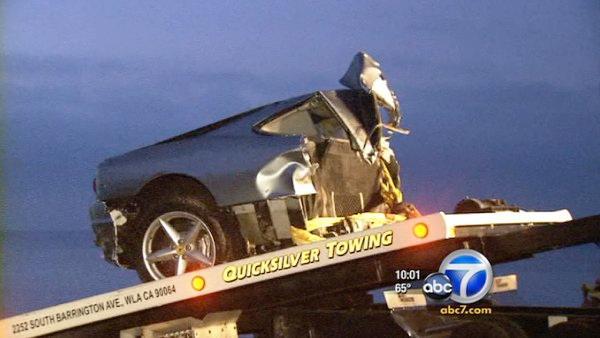 Ferrari rams power pole shuts pch in malibu abc7 com