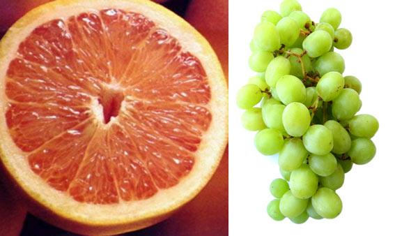 Now you know what to eat, how much you eat is just as important. One serving size of fruit equals a half of grapefruit or 12 grapes.