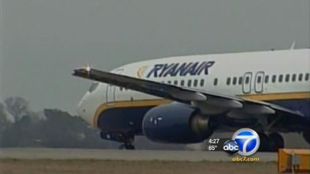 A Ryanair plane is seen in this undated file photo.