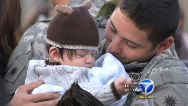 CA soldiers, families reunite at Los Alamitos