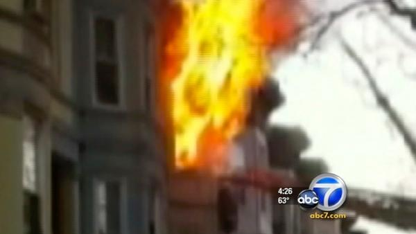 NY firefighter rescued from flames