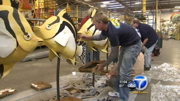 2012 Rose Parade float preparations under way