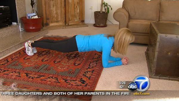 Lori Corbin's one-minute workout: Planks