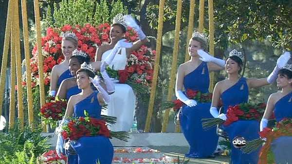 The 2012 Rose Court passes the crowd on Orange Grove Boulevard during the 123rd annual Rose Parade in Pasadena Jan. 2, 2012.