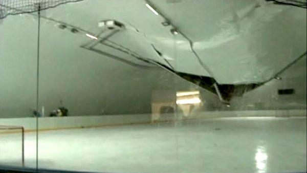 Roof collapses at hockey rink in Slovakia