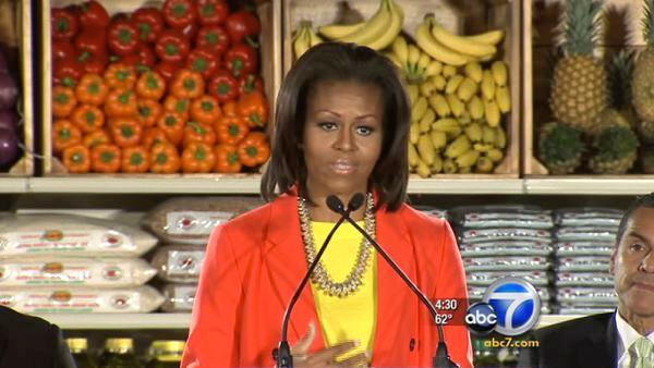 Michelle Obama visits Inglewood on SoCal trip