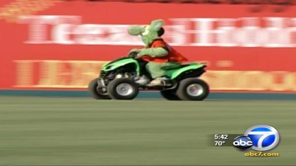 Thieves steal baseball mascot's quad-runner