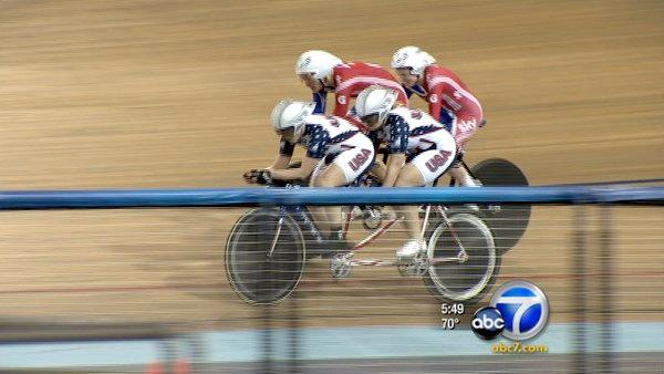 Blind cyclists compete in world competition