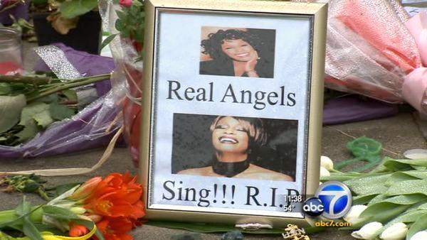 Whitney Houston fans pay respects to singer