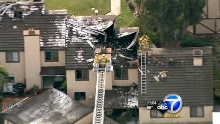 Residents were evacuated from a Westminster condominium complex due to a fire that ripped through three units.