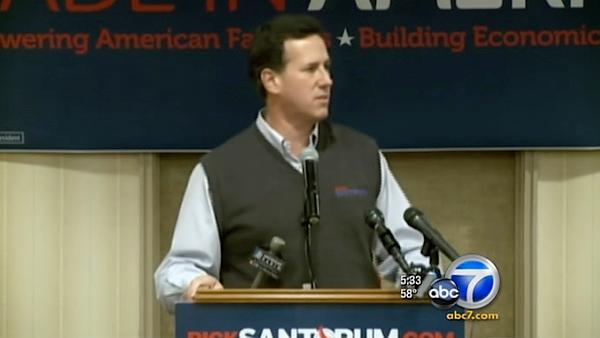 Santorum poses challenge in Romney's Michigan