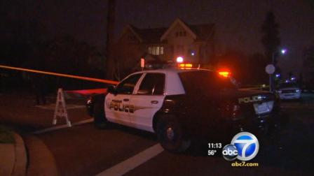 A man suspected of assaulting a West Covina police officer was pursued by police Sunday and shot.
