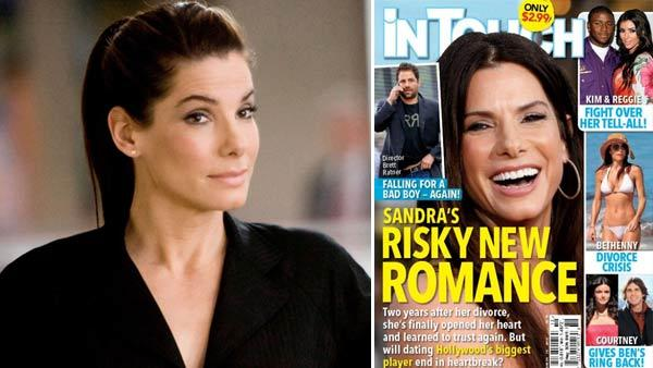 Sandra Bullock appears in a still from the 2009 film, The Proposal. / Sandra Bullock appears on the March 8, 2012 cover of InTouch magazine. - Provided courtesy of Touchstone Pictures / InTouch