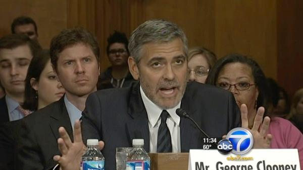 George Clooney talks Sudan w/ U.S. Senate