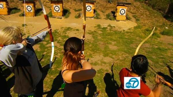 You might feel like a superhero after taking in an archery lesson at the Pasadena Roving Archers archery club in Pasadena's Lower Arroyo Seco Park.