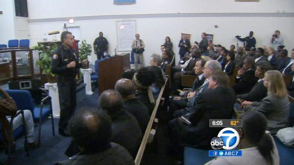 Police, community meet over Pasadena shooting