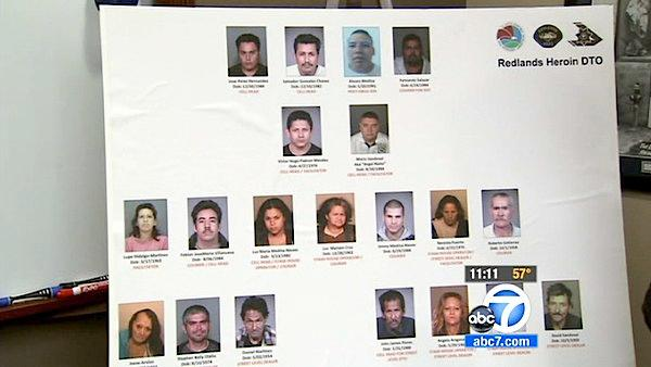 Heroin ring in Redlands shut down; 15 arrests