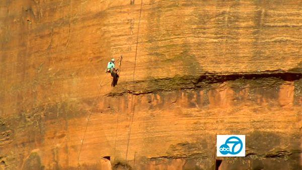 While exploring Zion National Park, Utah's oldest park, Tina worked up enough courage to rappel down the side of a cliff with the help of Zion Adventure Company!