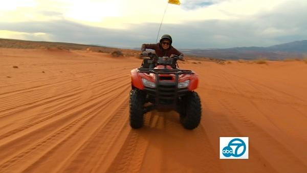Out of all the fun experiences Tina had in Utah, it's safe to say that her favorite was definitely ATV-ing through the red velvety sand dunes at Sand Hollow! ATV and Jeep Adventure Tours offers 2-6 hour excursions.