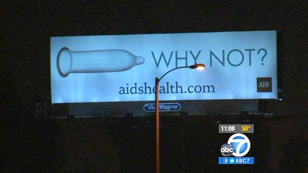 AIDS billboard in Industry has drivers in uproar
