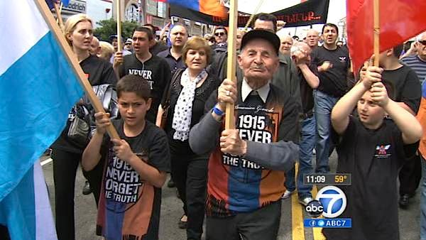 Armenian Genocide protest draws thousands
