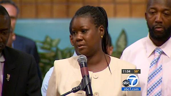 Trayvon Martin's parents attend rally in LA