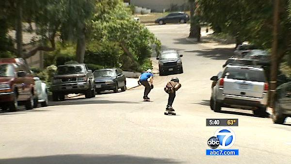 Push to stop 'skate bombing' in Los Angeles