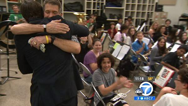 Junior high school band teacher gets $500