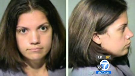 Jami Lynn Toler, 27, of Phoenix, Ariz., is seen in police mug shots. She is acused of fraud and theft after faking breast cancer and using $8,000 in fundraising money to get breats implants.