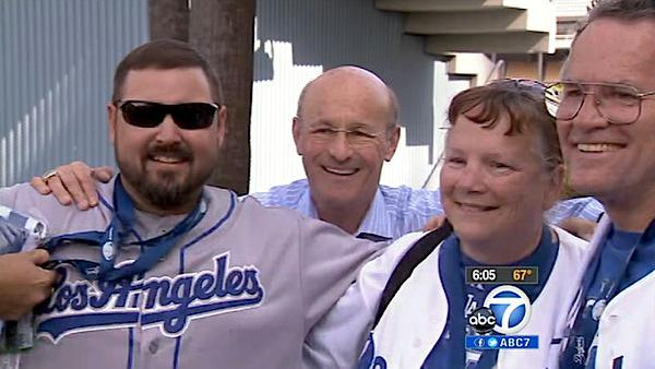 Dodgers play first home game under new owners