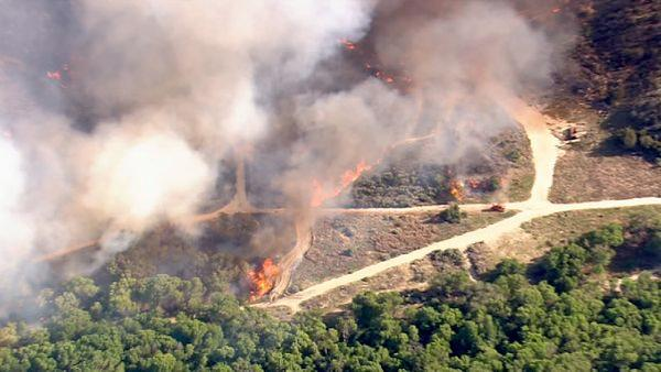 A brush fire erupted in Acton near Soledad Canyon and Crown Valley roads Tuesday afternoon.