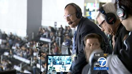 LA Kings announcer Bob Miller (left) is seen at Game 4 of the Stanley Cup Final at the Staples Center on Wednesday, June 6, 2012. Miller has been the teams announcer for 39 years.