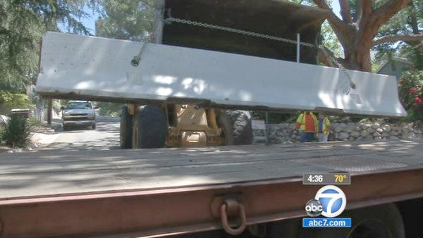 K-rails moving out of Station Fire areas