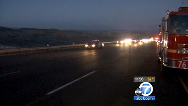 Castaic brush fire: I-5 traffic improves
