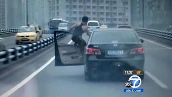 China stunt man drives other drivers crazy