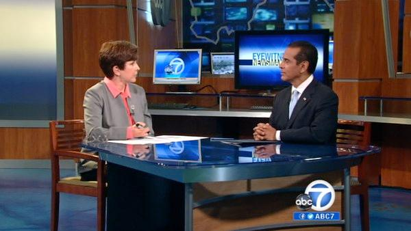 LA mayor talks city employee pensions